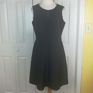 Calvin Klein charcoal gray fit and flare dress